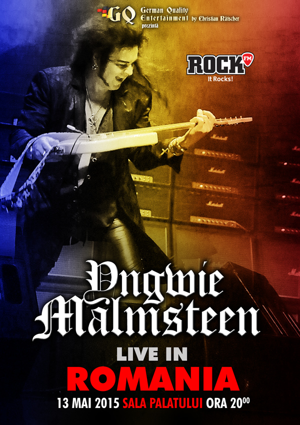 GERMAN QUALITY ENTERTAINMENT IL ADUCE IN PREMIERA IN ROMANIA PE YNGWIE MALMSTEEN