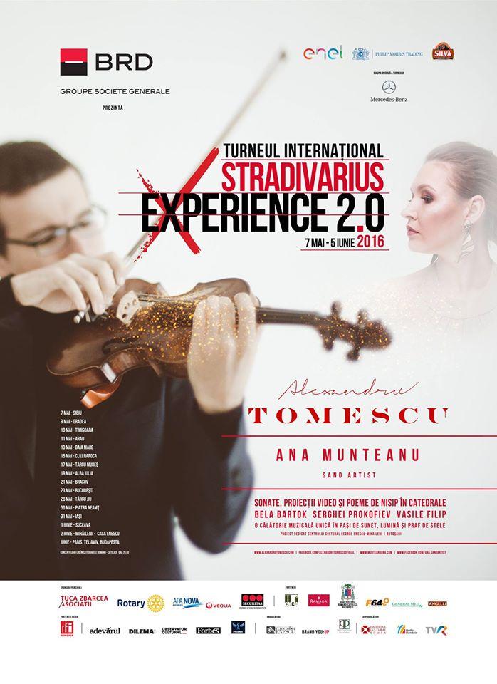 Ana Munteanu și Alexandru Tomescu în turneu Stradivarius