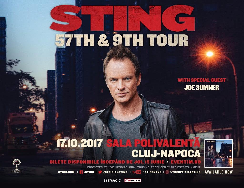 Sting – In concert pentru prima data in Cluj-Napoca