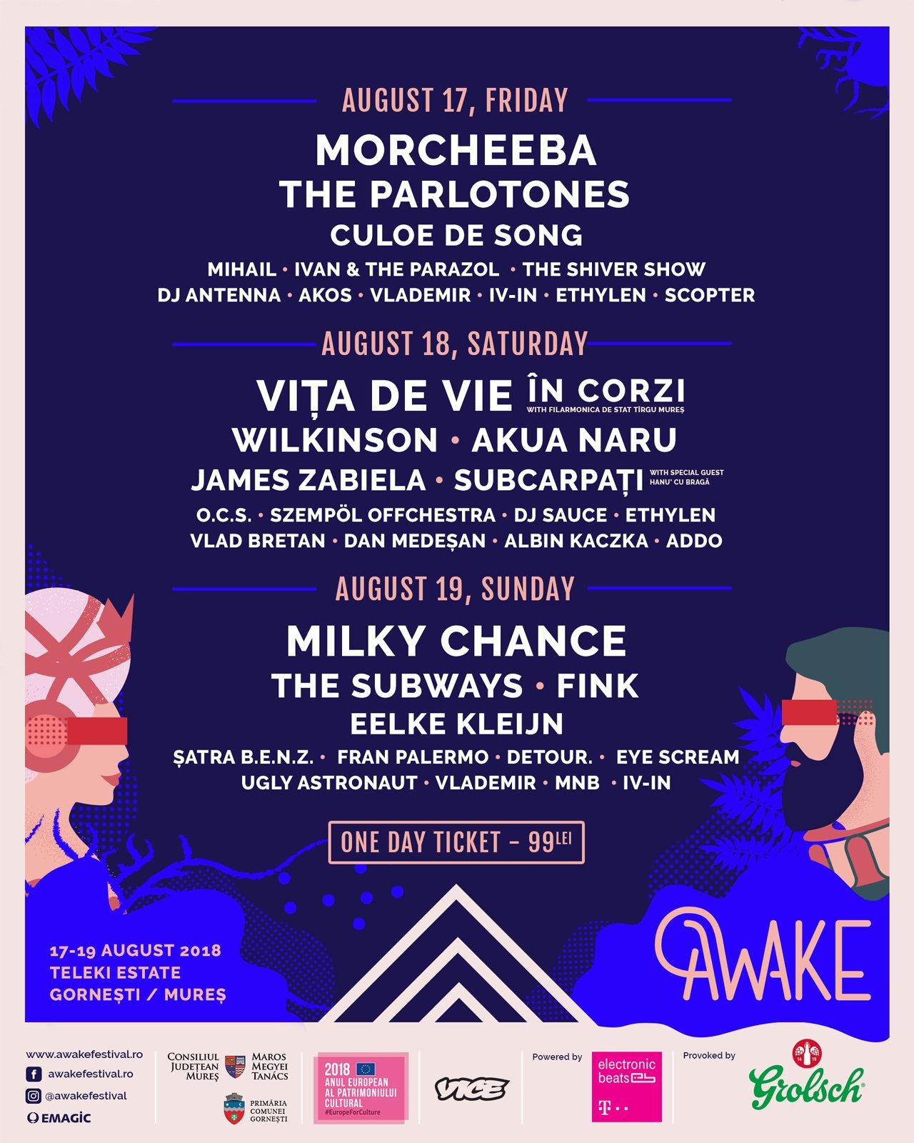 AWAKE lansează biletele de o zi
