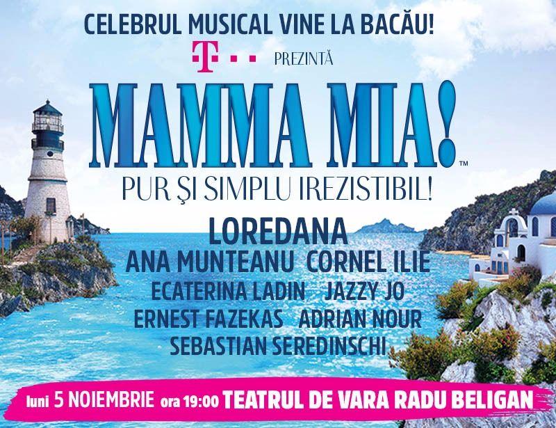 Celebrul musical Mamma Mia vine la Bacau si Iasi pe 5 si 7 noiembrie!