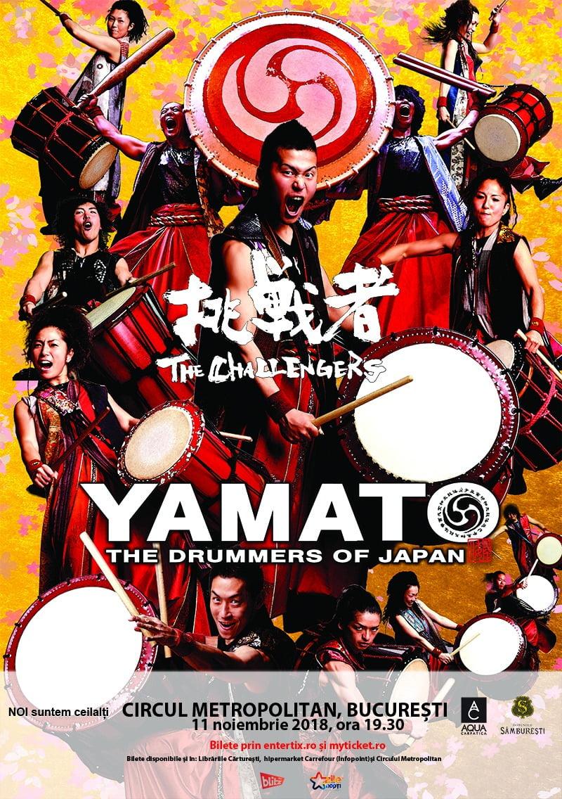 YAMATO – The Drummers of Japan  în concert la Opera Națională Română Cluj-Napoca și  la Circul Metropolitan București