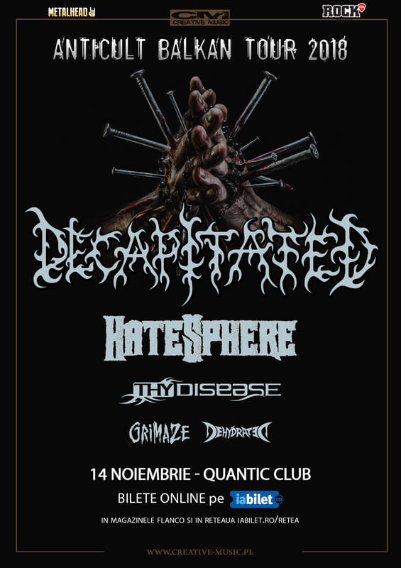 Concert Decapitated, Hatesphere si Thy Disease in Club Quantic