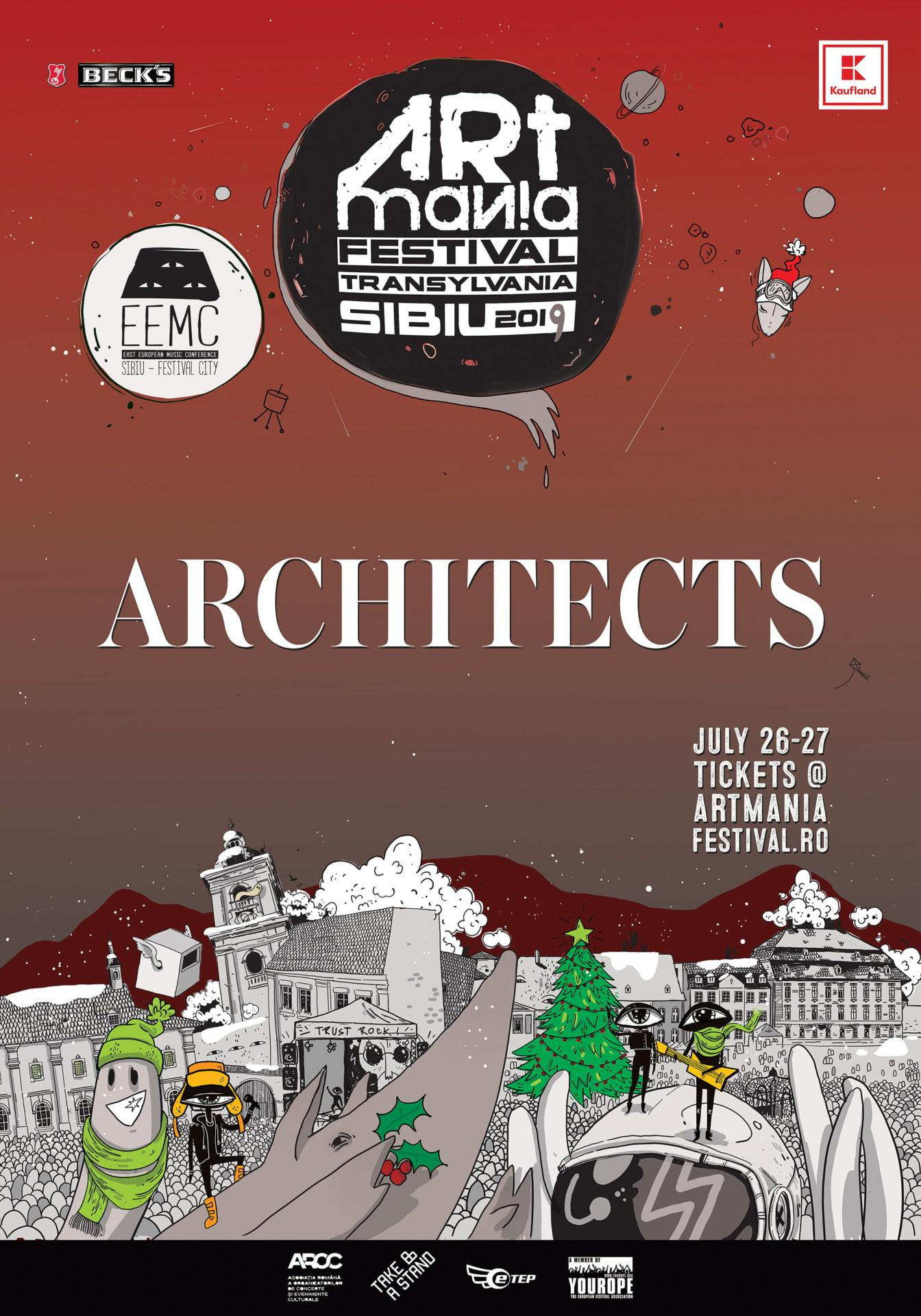 Metalcore britanic la ARTmania Festival 2019: ARCHITECTS este noul nume confirmat