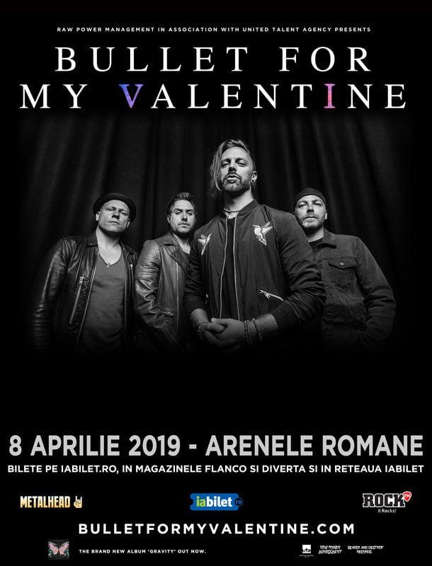 Concert Bullet For My Valentine la Bucuresti pe 8 aprilie