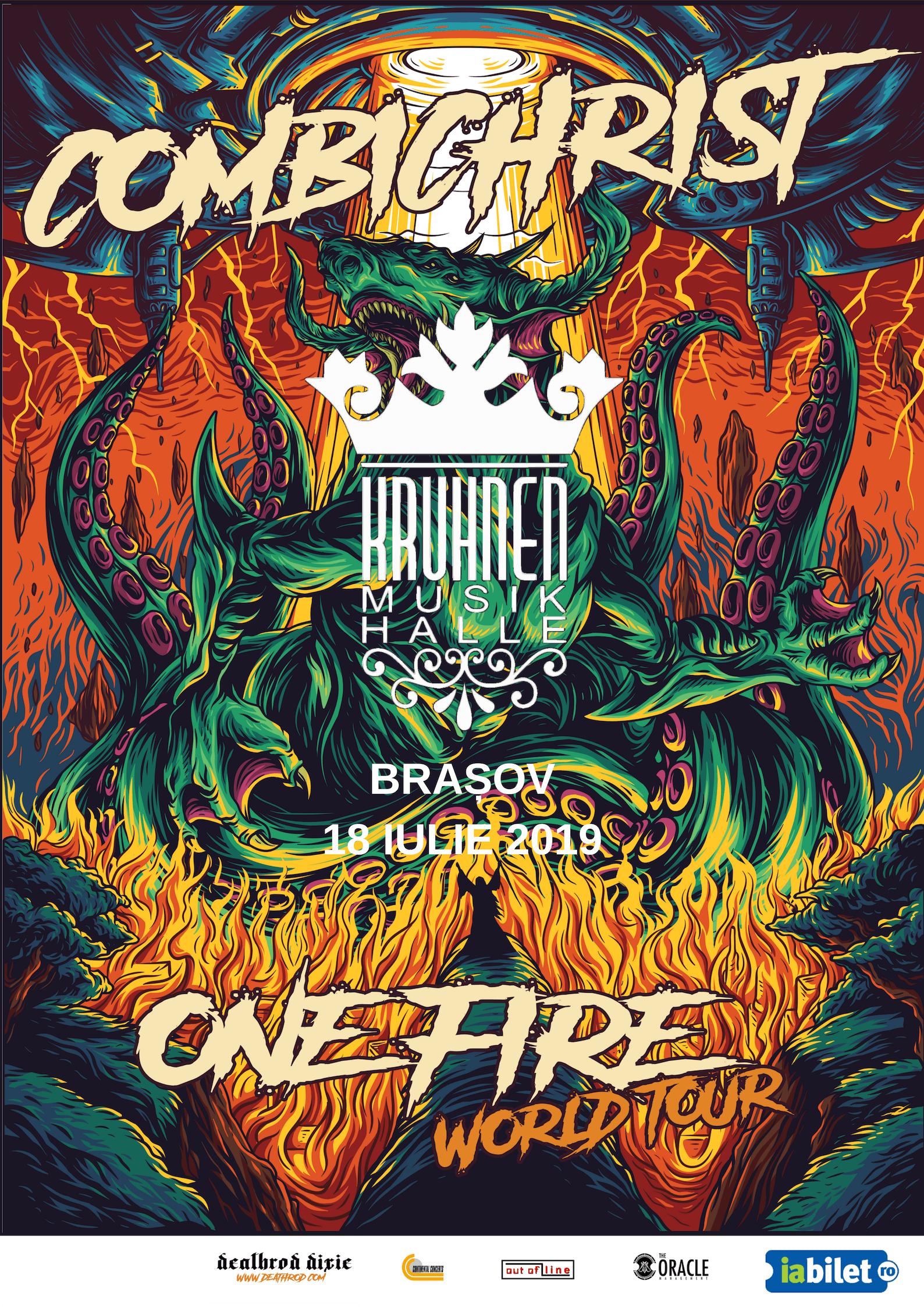 COMBICHRIST [USA] în concert la Kruhnen Musik Halle din Brașov, parte din One Fire World Tour 2019