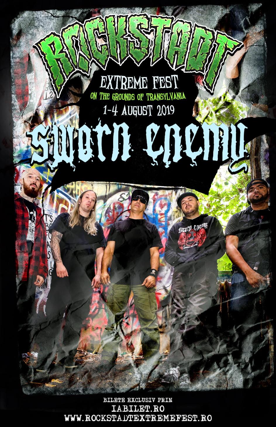 SWORN ENEMY (SUA) in premiera in Romania, la Rockstadt Extreme Fest 2019