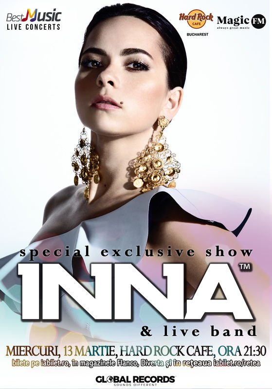 INNA – special exclusive show in Hard Rock Cafe