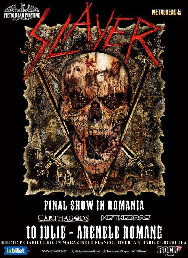 Carthagods si Methedras in deschiderea concertului Slayer