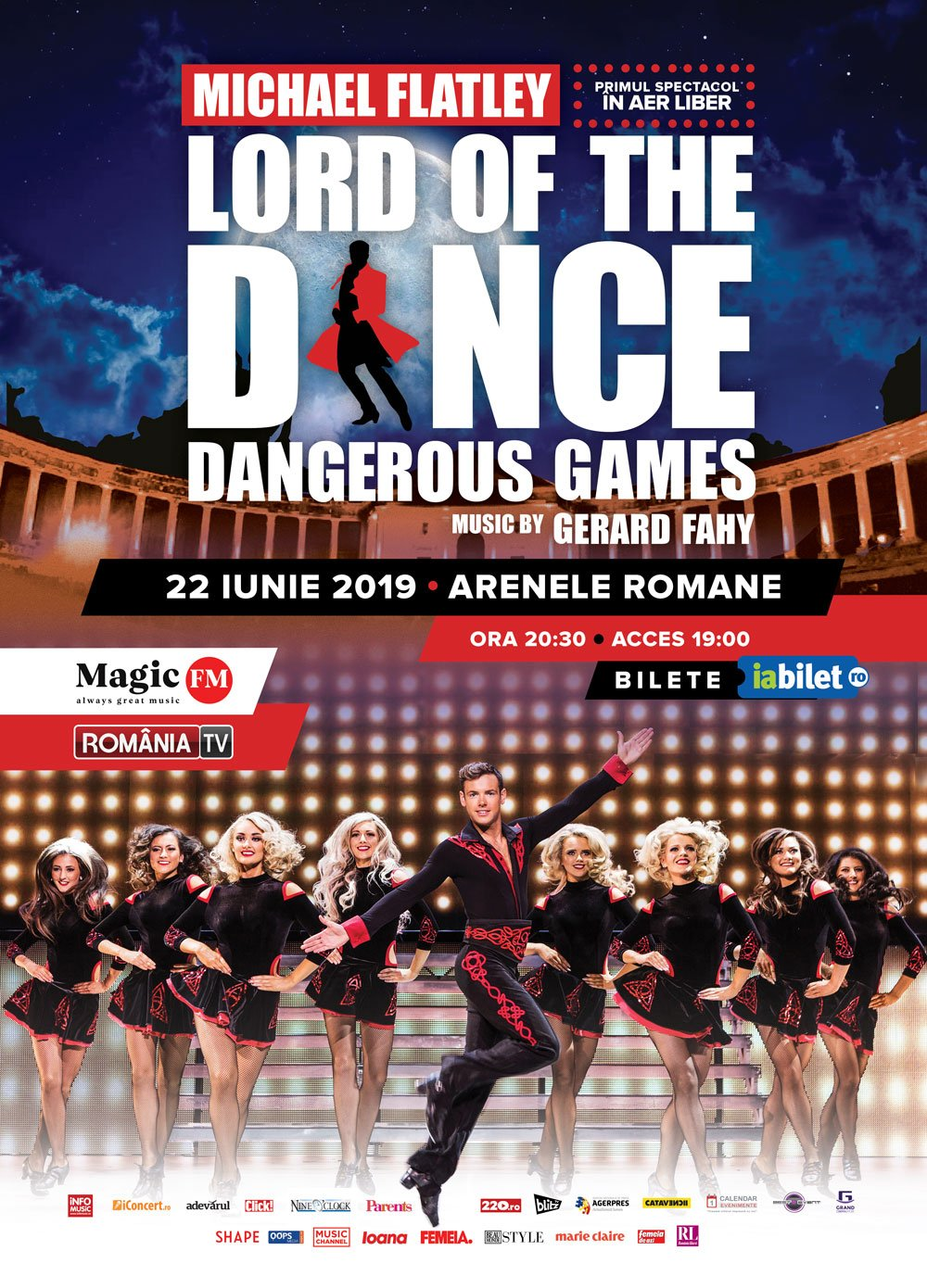 LORD OF THE DANCE – DANGEROUS GAMES:  SHOW-UL DANSATORILOR IRLANDEZI  CARE A DOBORÂT ORICE RECORD DE BOX-OFFICE VINE PE 22 IUNIE, LA BUCUREȘTI
