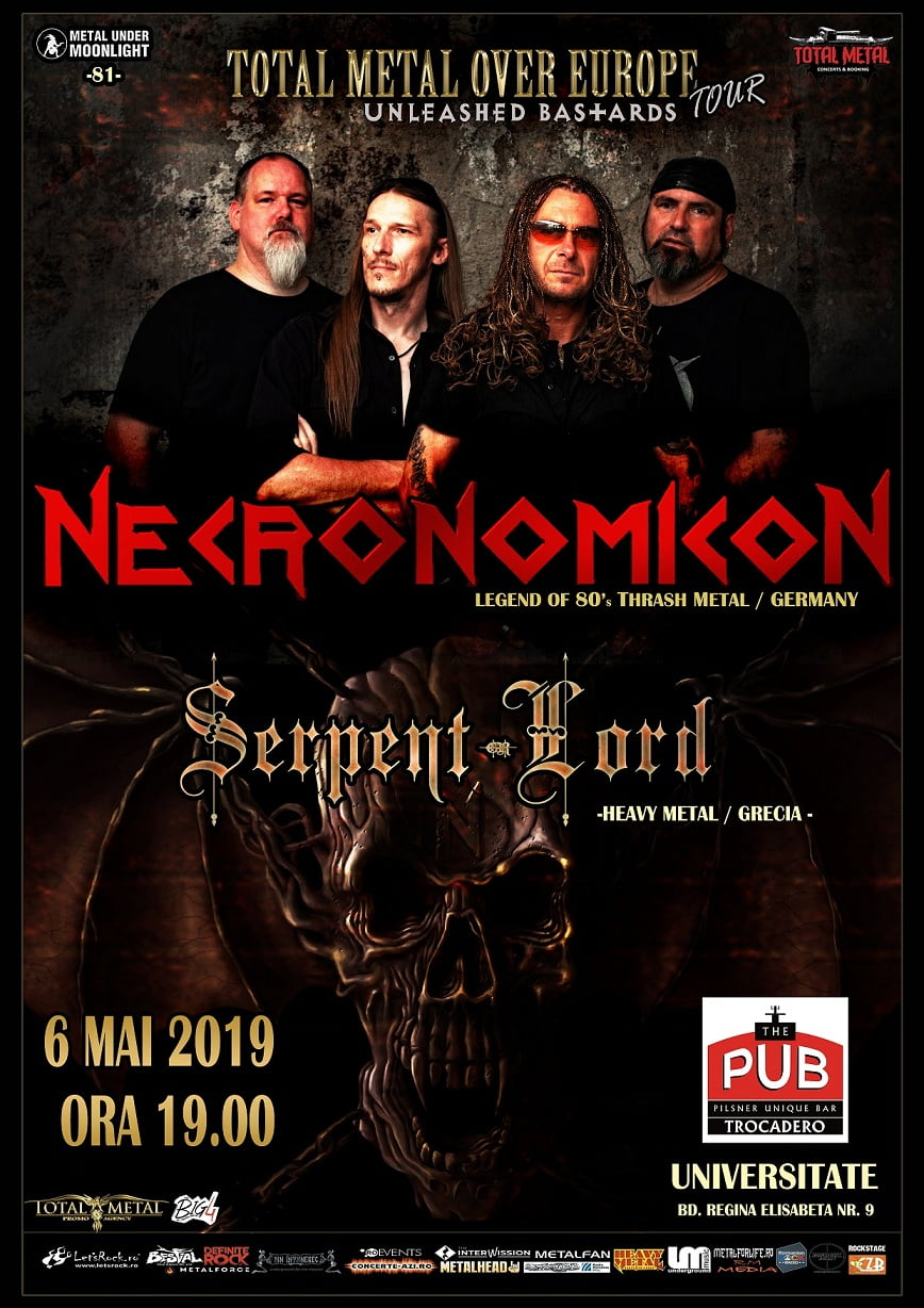 Necronomicon, legenda thrashului german in concert la Bucuresti