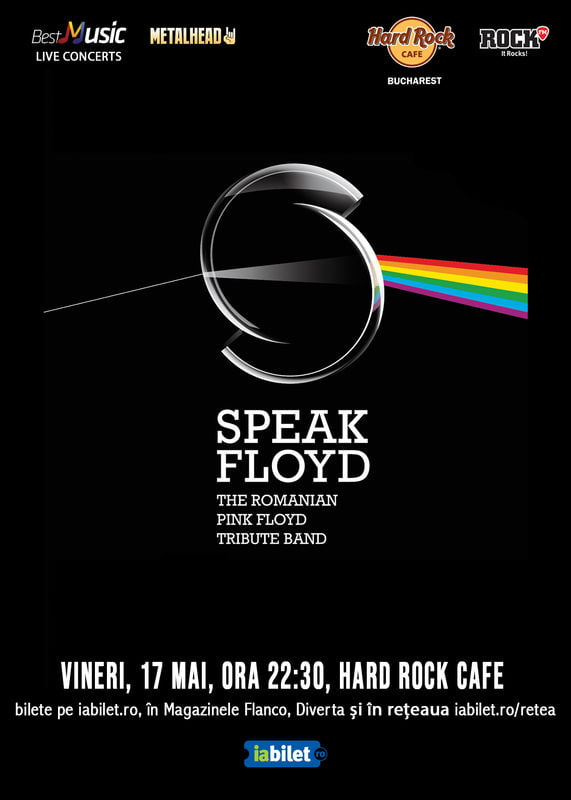 Concert Tribut Pink Floyd cu Speak Floyd in Hard Rock Cafe