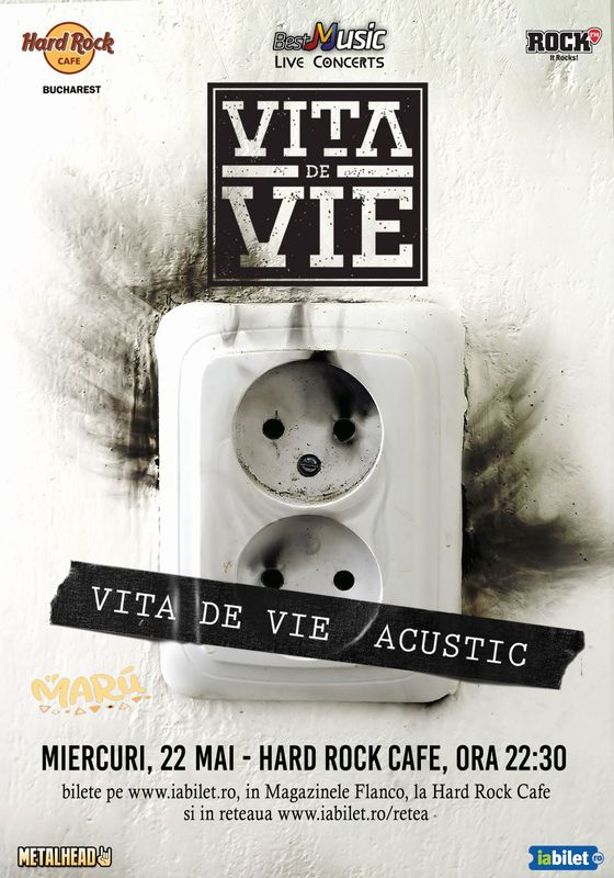 Concert Vita de Vie – Acustic in Hard Rock Cafe