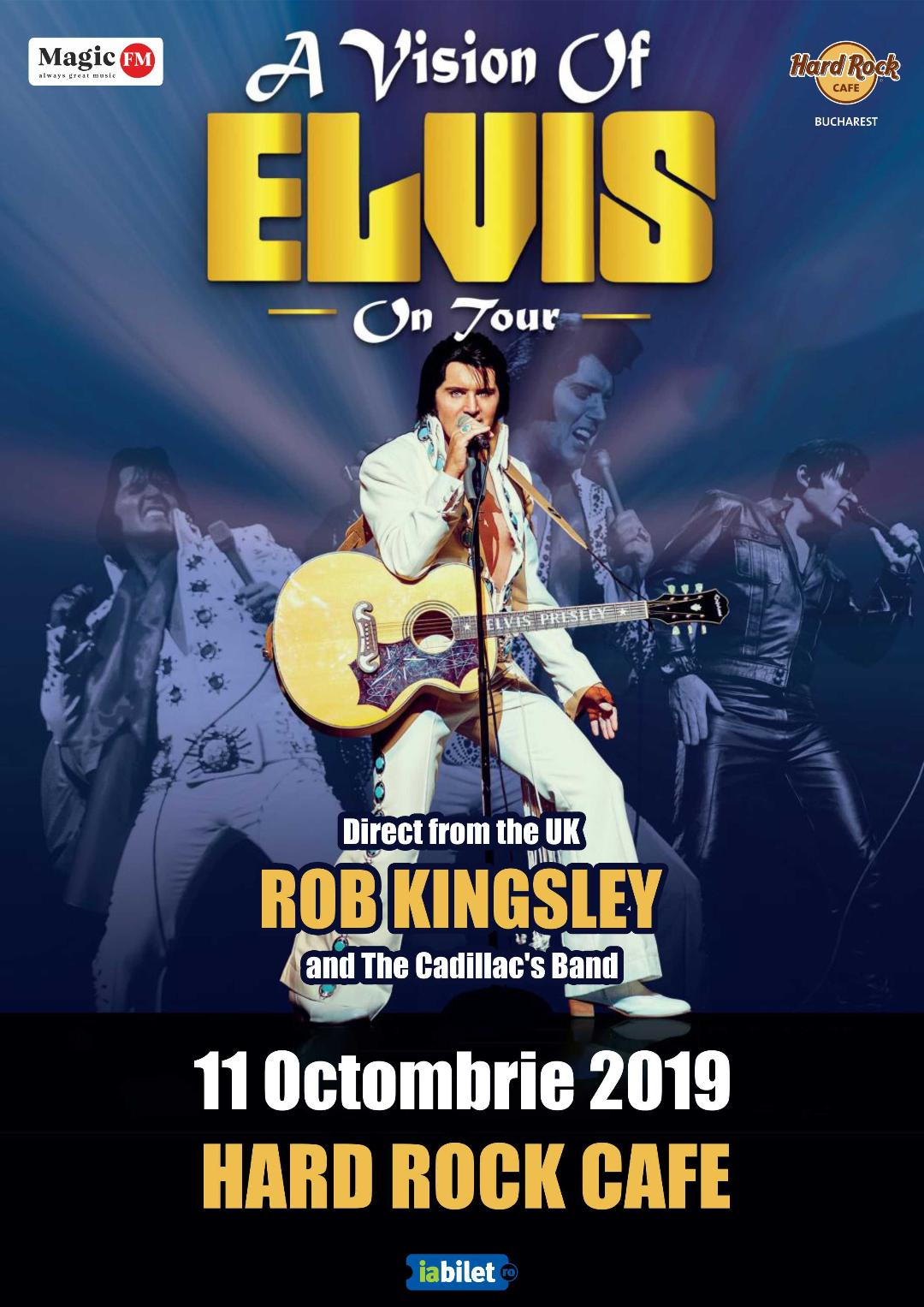 """Concert """"A vision of Elvis – Rob Kingsley and The Cadillac's Band la Hard Rock Cafe"""