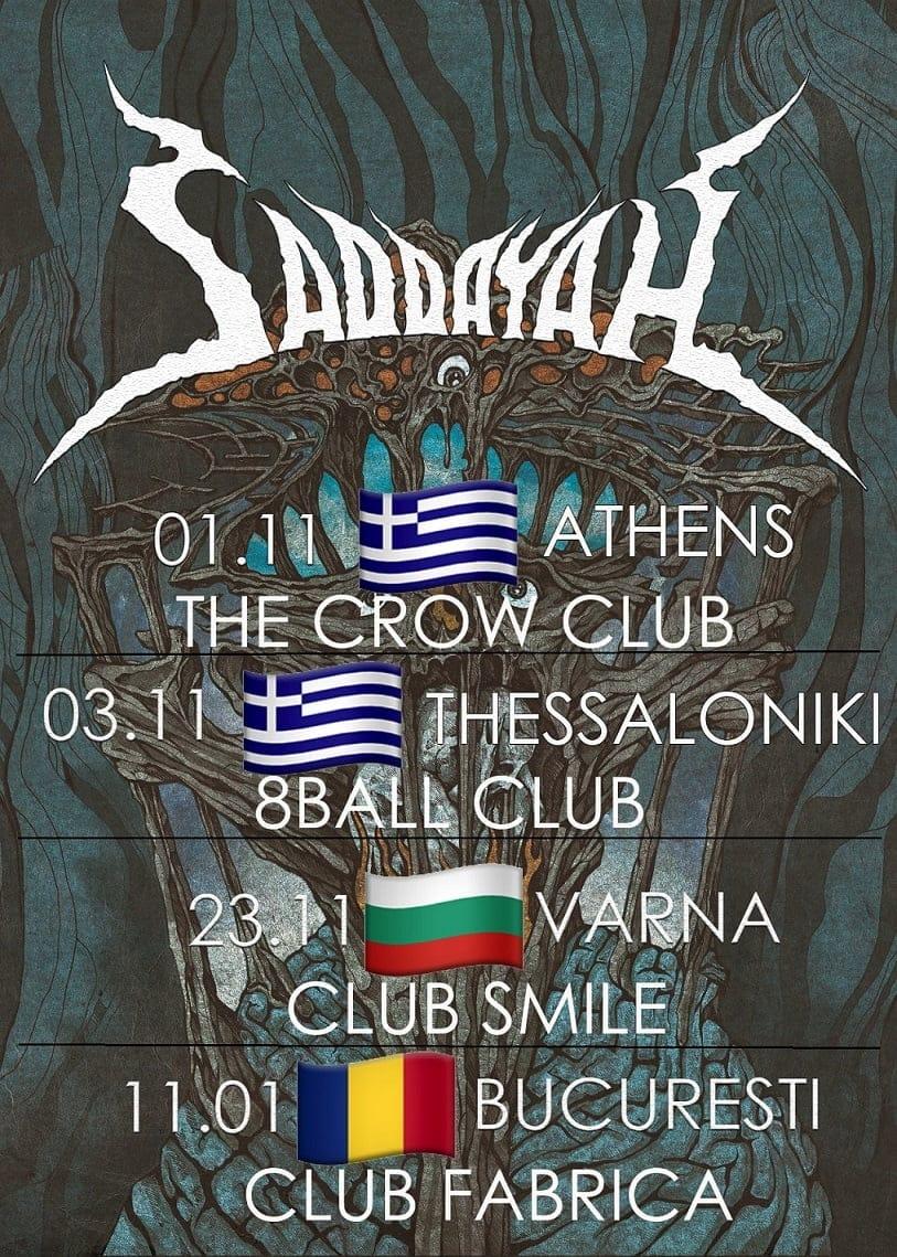 Saddayah va sustine trei concerte in Grecia si in Bulgaria