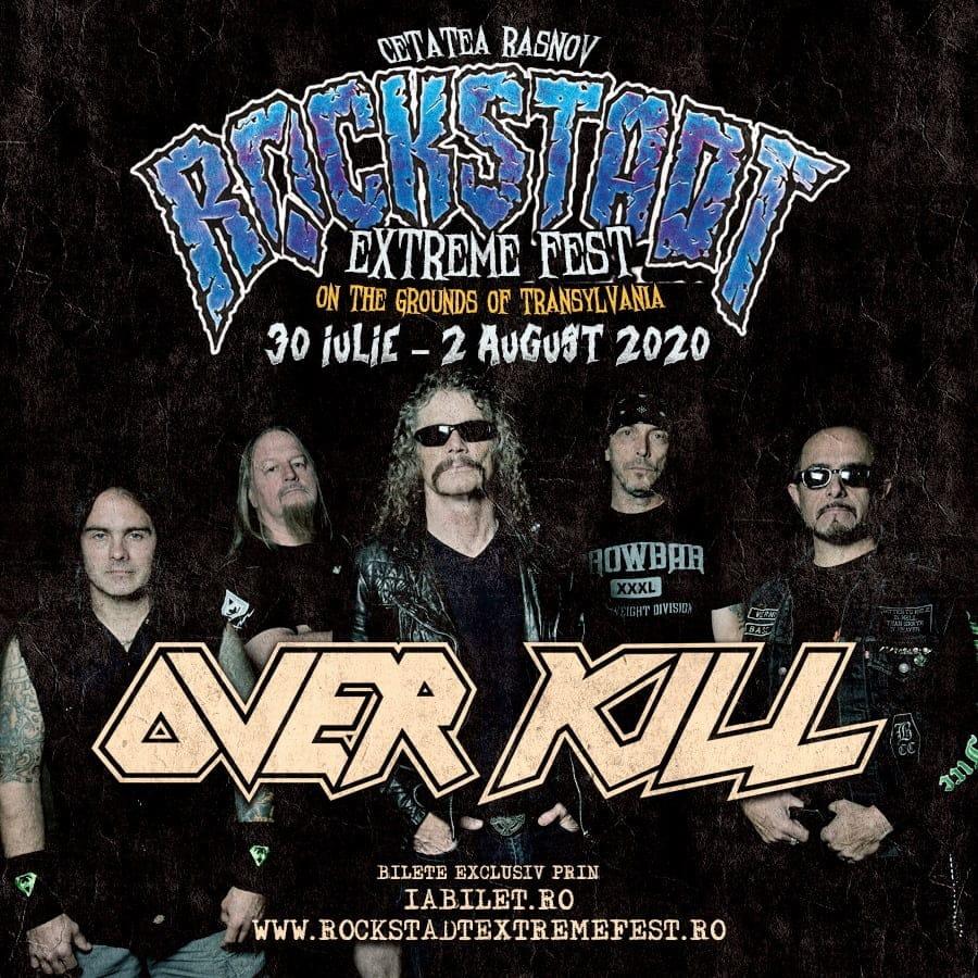 OVERKILL – noua confirmare pentru Rockstadt Extreme Fest 2020