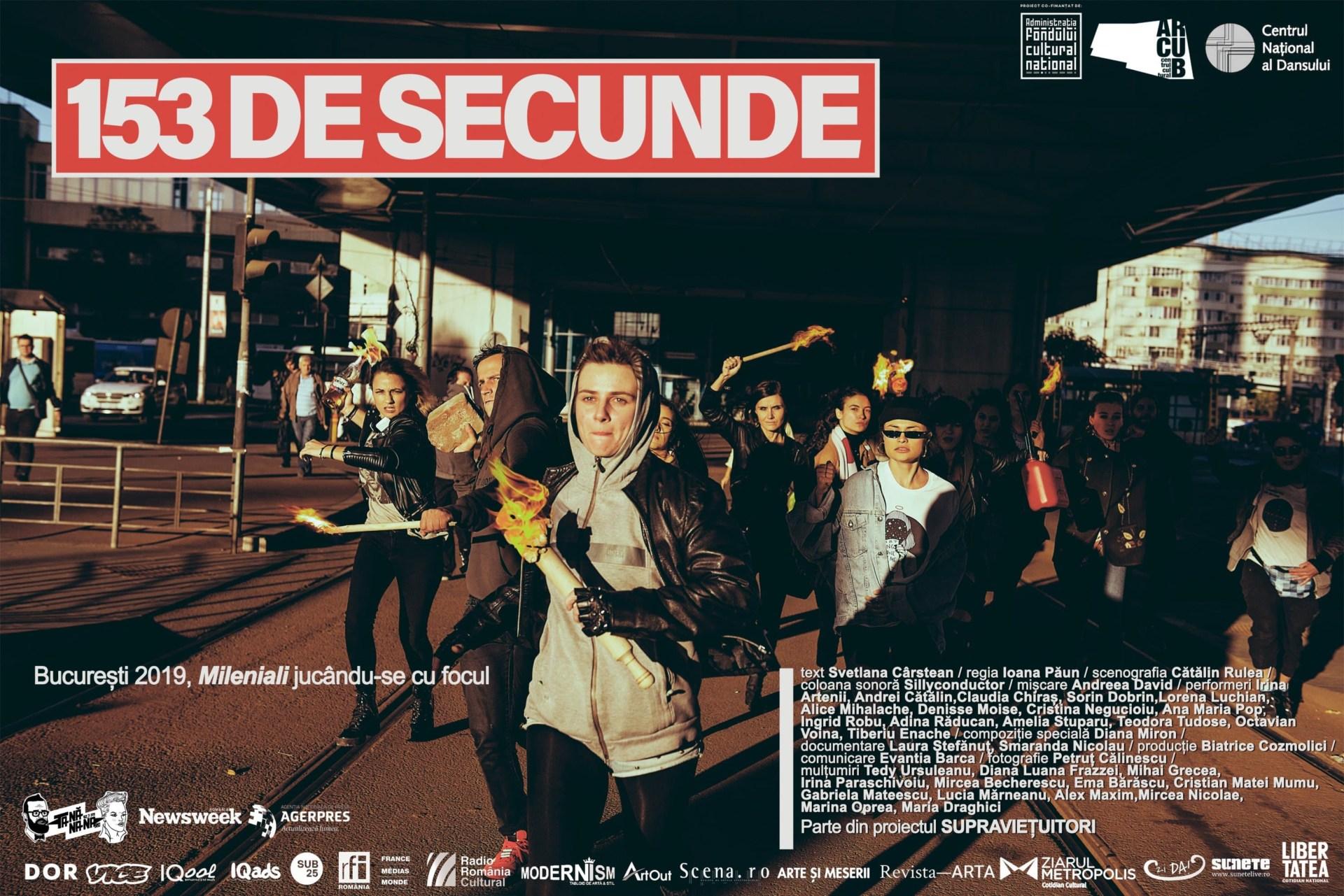 """""""Am fost făcut să rezist. Să nu se clintească nimic din mine"""" 153 DE SECUNDE  – Manifestul milenialilor,  pe scena Centrului Național al Dansului din București"""