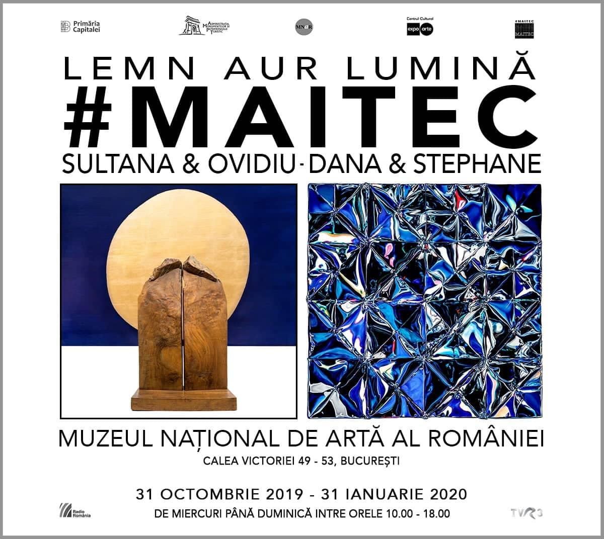 Povestea Maitec în expoziția Lemn Aur Lumină, la Muzeul Național de Artă al României