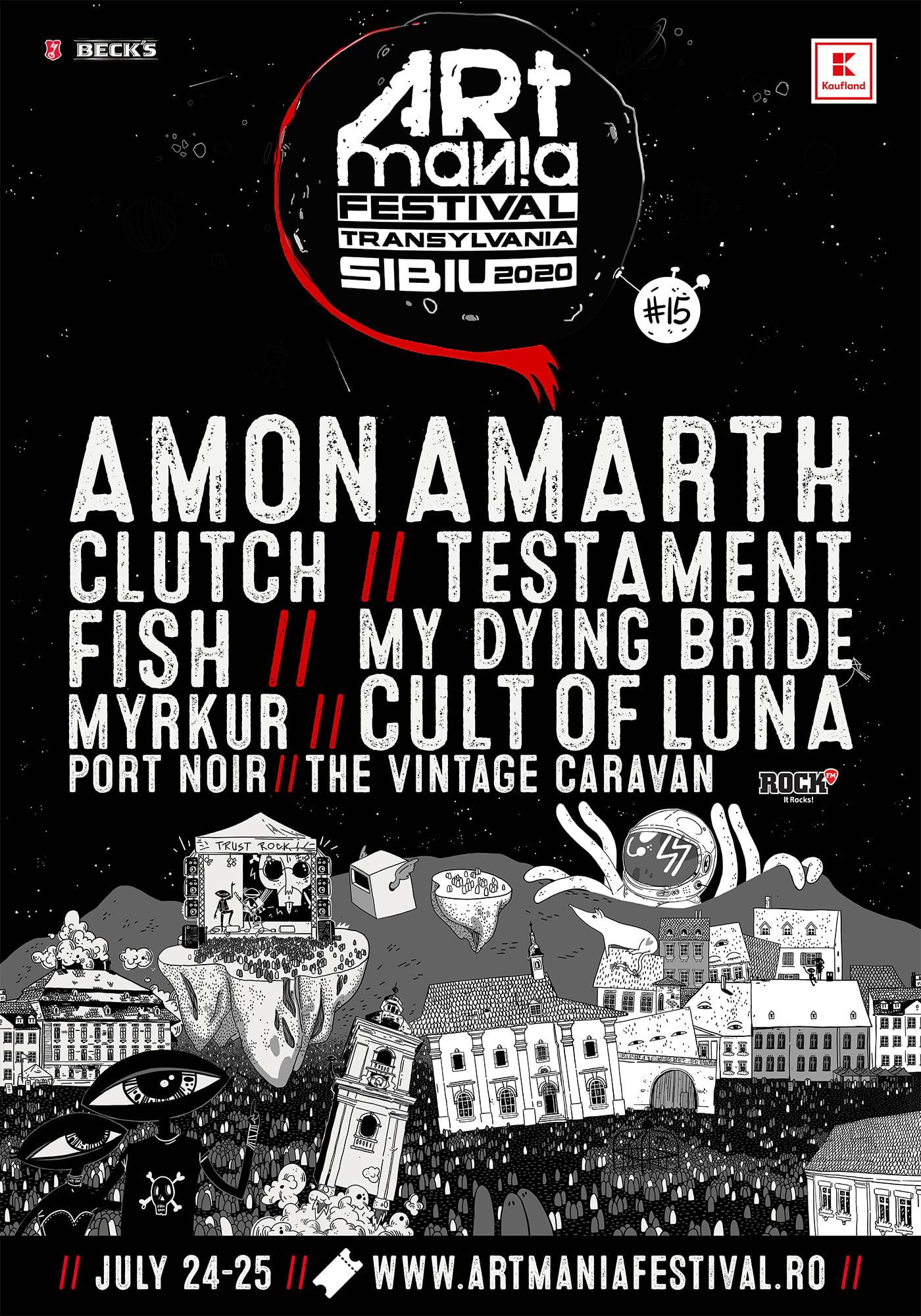 Noi confirmări și premiere în line-up-ul ARTmania Festival 2020:  •Fish, Port Noir și Testament fac parte din cel de-al doilea val de artiști confirmați   • •Abonamentele sunt disponibile pe artmaniafestival.ro, blt.ro, iabilet.ro, kompostor.ro și eventim.ro