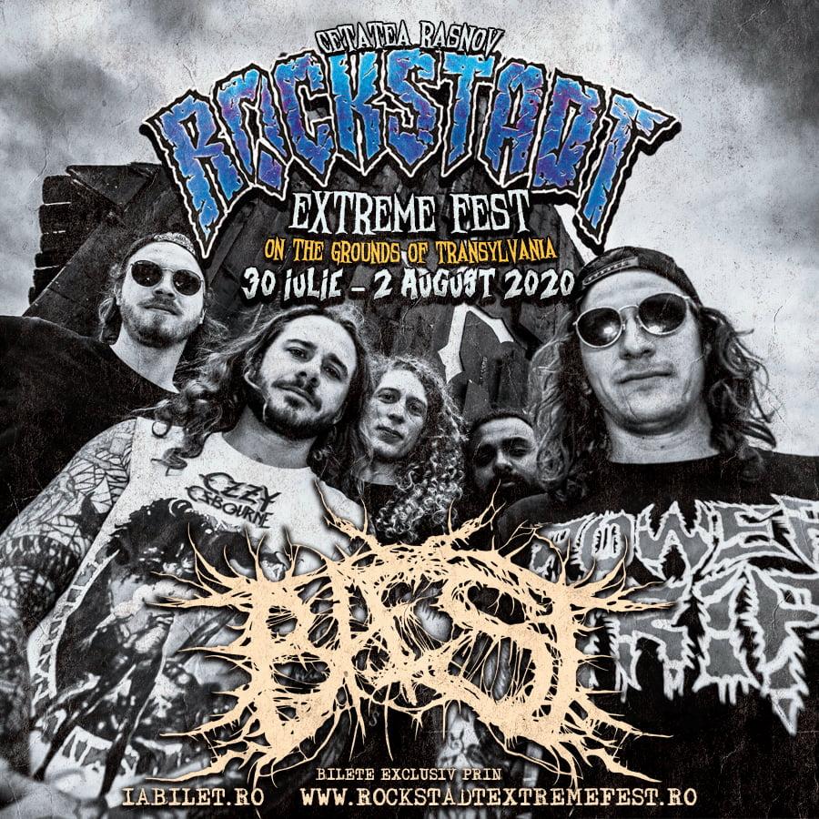 Death metal din Danemarca la Rockstadt Extreme Fest 2020: BAEST