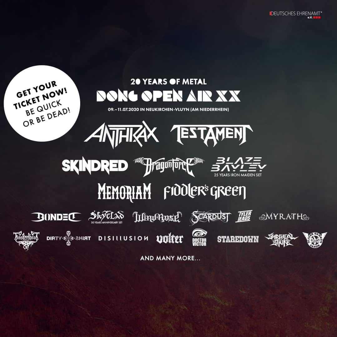 Dirty Shirt va susține un recital în cadrul Dong Open Air, alături de Anthrax, Testament, Skindred și Myrath