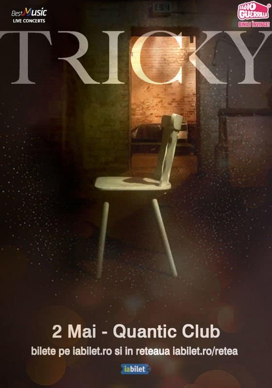 Concert TRICKY la Quantic Club pe 2 Mai