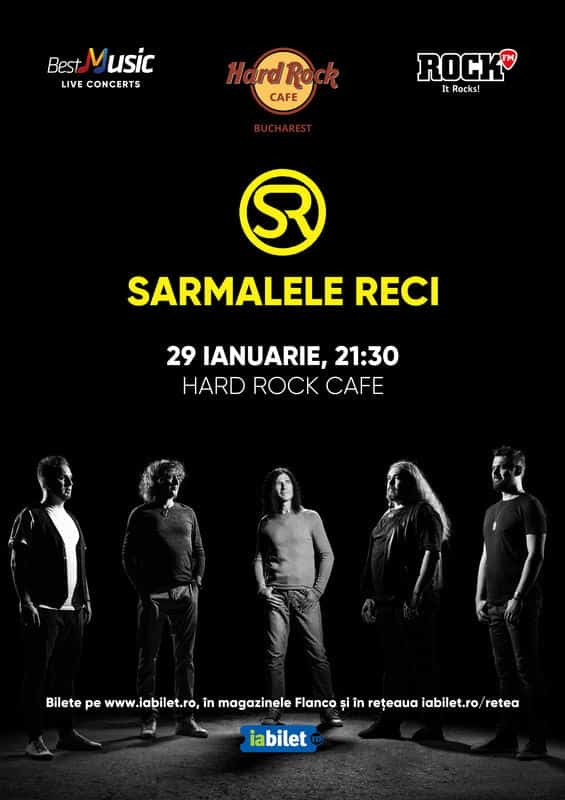 Concert Sarmalele Reci la Hard Rock Cafe pe 29 Ianuarie
