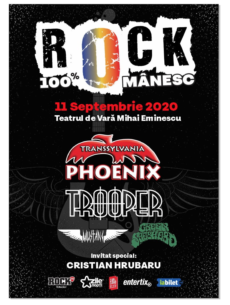 Rock 100% Românesc: Trooper, Phoenix, Mustang, Green Shepherd, rock, masti si licurici